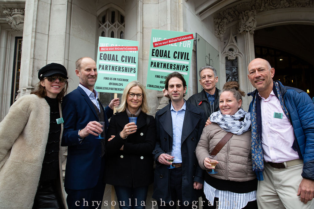 Campaigners for Equal Civil Partnerships celebrate success